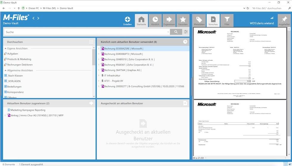 M-Files Dokumenten Management System (DMS)